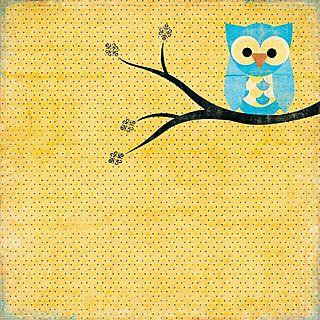 Pink Paislee Night owl paper