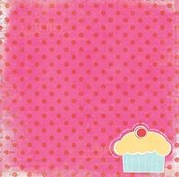 Pink Paislee cupcake cutie paper