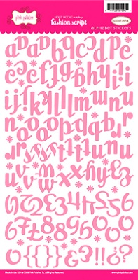 Pink Paislee pink letters