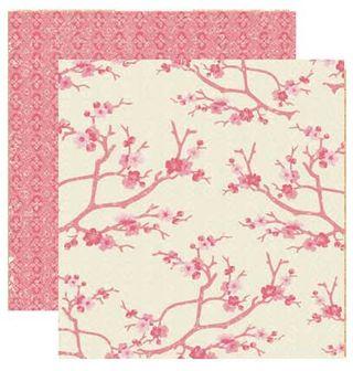 Collage Press Margot cherry blossoms paper