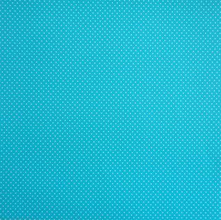 Doodlebug turquoise spot paper