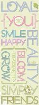 K&Co Amy Butler chipboard words