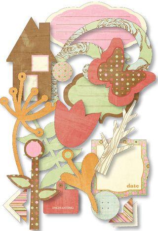 Pink Paislee Enchanting chip elements