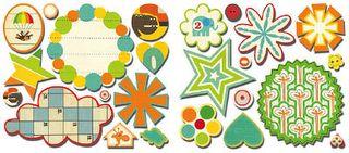 Sassafras Bungle Jungle Sweet Treats stickers