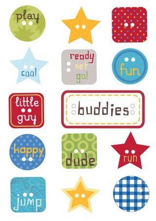 Ki Little Guy Chip Buttons
