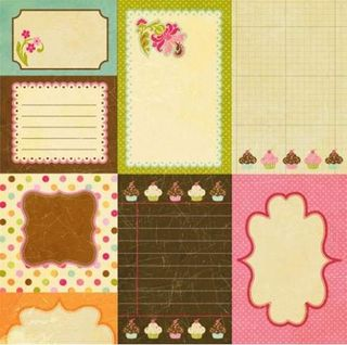 Collage Press Sweet SHoppe journalling cards