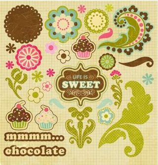 Collage Press Sweet Shoppe Die Cut Shapes