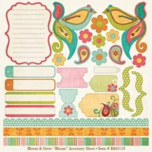 My Minds Eye Bloom Accessory Sheet