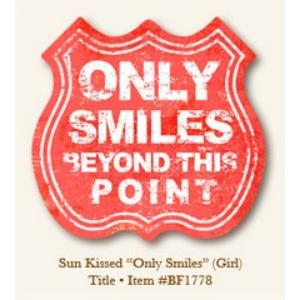 MME Only Smiles die cut girl