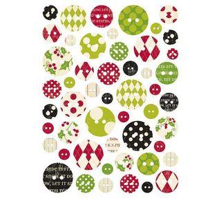 MM Mistletoe chipboard buttons
