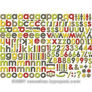 Sassafras Earthy Chipboard lettering