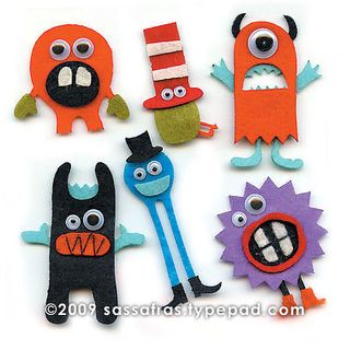 Sassafras Silly Monster Felties