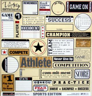 TC Sports Edition Game On paper