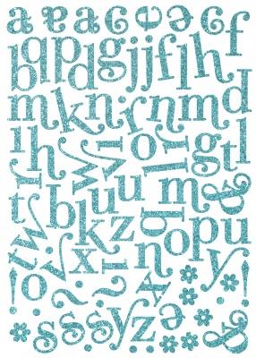 MM Shimmer chipboard lettering