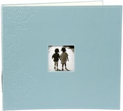 MM Embossed blue binder