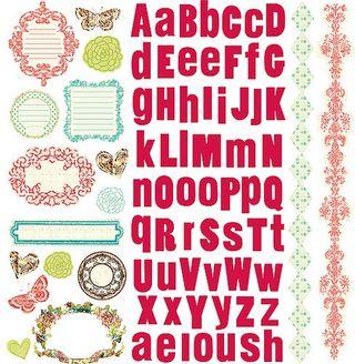 Prima Strawberry Cardstock sticker