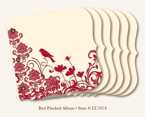 MME Red Flocked Album