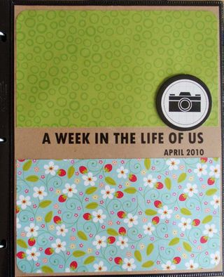 Week In The Life title page