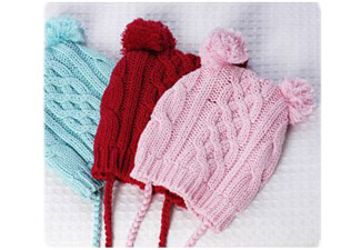 Pinkcablebeanie