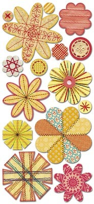 Sassafras Seamstress Bouquet paper whimsies