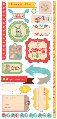 CC Togetherness cardstock stickers