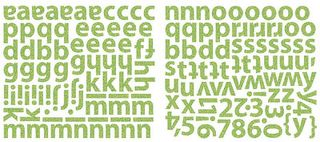 Sassafras Kelly Green Glitter Alpha Stickers