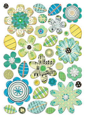 Sassafras Blues Garden Bits Chipboard Stickers