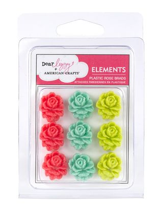 AC Dear Lizzy Enchanted Rose Brads
