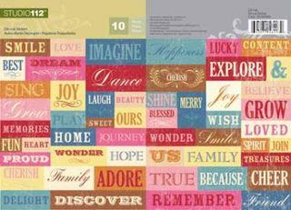 K&Co Studio 112 Warm Word stickers