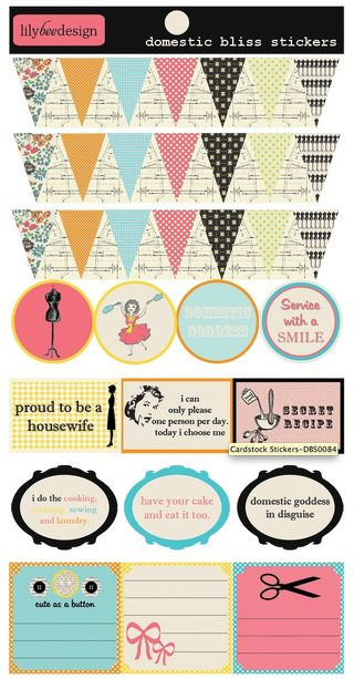 Lily Bee Domestic Bliss stickers