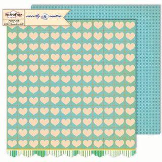Sassafras Sweetly Smitten Heartfelft paper