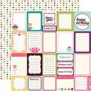 EP Little Girl Journalling Cards paper