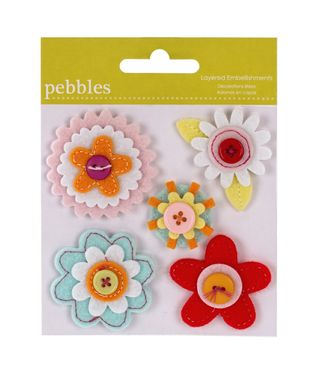 Pebbles Happy Go Lucky Felt Flowers