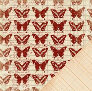 MM PR Sienne butterfly paper