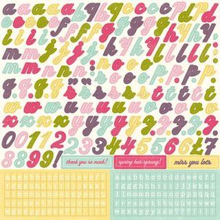 EP Springtime Alpha Stickers