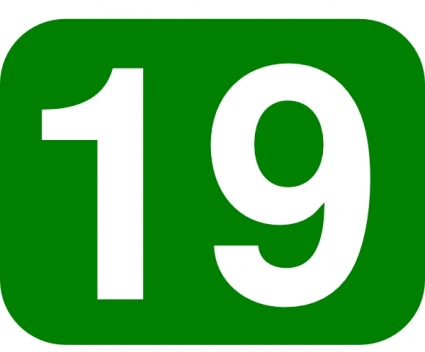 Green_rounded_rectangle_with_number_19_clip_art_11162