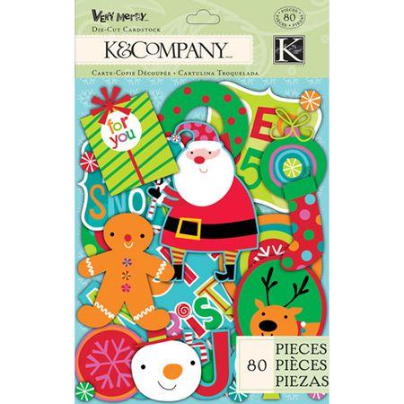 K&Co very merry die cut shapes